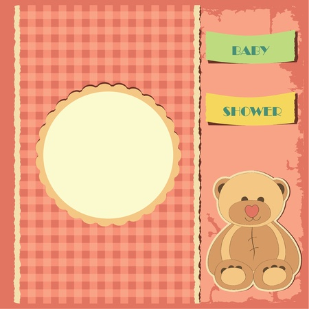 Baby shower for girl  Greeting card  Frame and place for your text or picture Vector