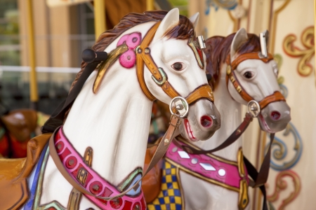 Merry-go-round vintage carousel  photo