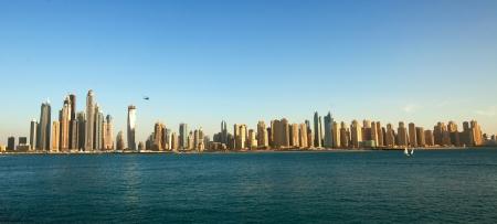 marina: Dubai Marina cityscape, UAE. Panoramic view Stock Photo