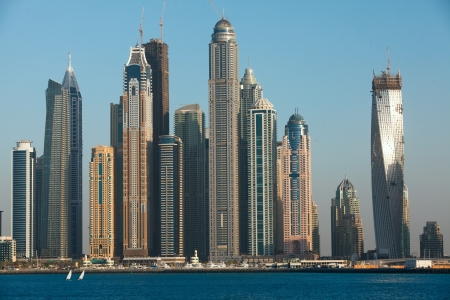 Dubai Marina cityscape, UAE photo