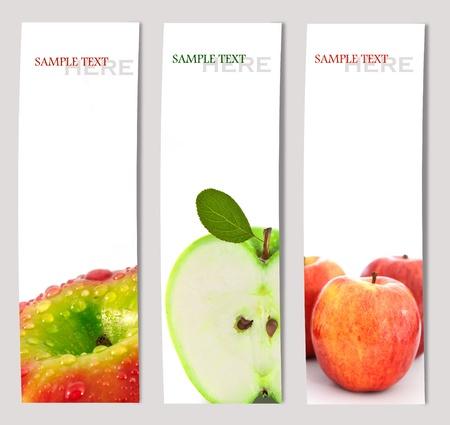 Ontwerp achtergrond van appel brochure template Stockfoto