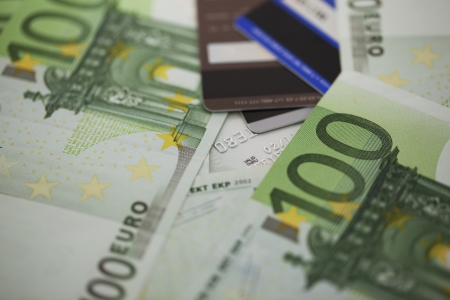 Pile of one hundred euro bills Stock Photo - 15704882