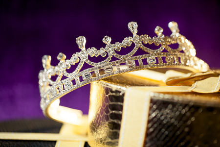 Bruiloft kroon - Diamond tiara Stockfoto