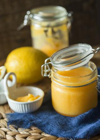 greem: Jar of lemon curd