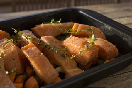 filets: Salmon filets prepared with Japanese recipe