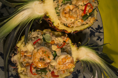 dinners: Shrimp and pineapple  are great for weekend dinners