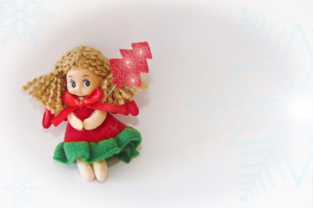 New Years Little Christmas Red Dress 版權商用圖片