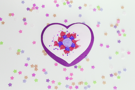 Sweet heart - gingerbread for Valentine's Day or a gift for loved ones. Heart is a symbol of love. Gingerbread.