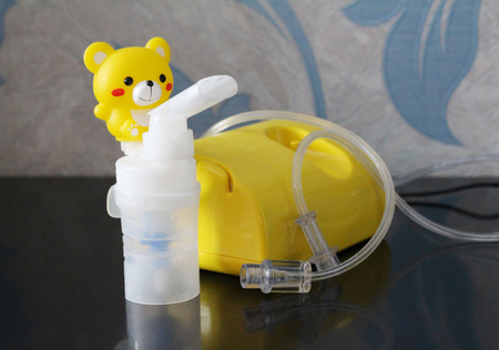 Nebulizer for the treatment of respiratory diseases. Inhalation. Treating young children. The medicine. Nebulizer for children.