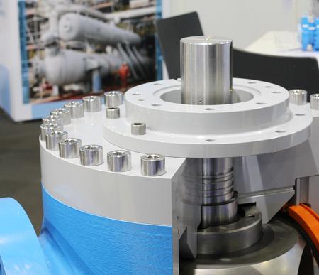 Valves regulating and locking regulating. Gate valves. Ball valves. Ball valves in the cut. Oil and gas industry. Banco de Imagens