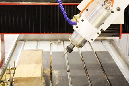 CNC milling machine. Milling and engraving installation. CNC woodworking machine. Machine for high-quality milling and engraving of surfaces of parts.