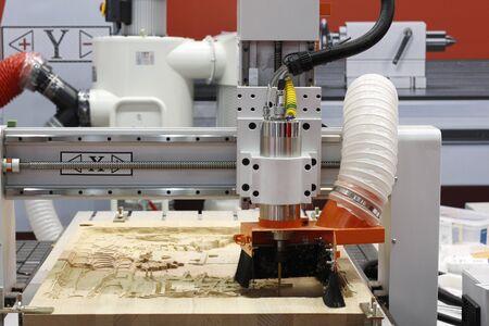 CNC milling machine. Milling and engraving installation. Reklamní fotografie