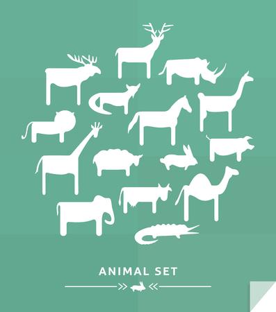 Simple animals set icon
