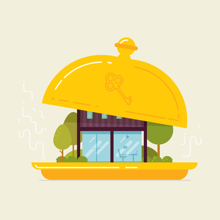 New office opening. Color vector flat concept illustrations.