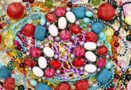 gemstones: Tapijt ornamenten Stockfoto