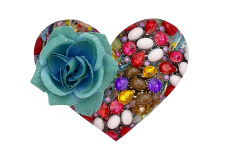 Decorative rose and brooches photo