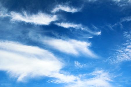 vague: Blue sky with clouds blurry forms in summer weather  Stock Photo