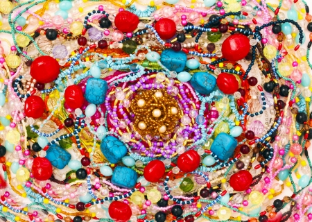 A large number of jewelry beaded handmade  photo