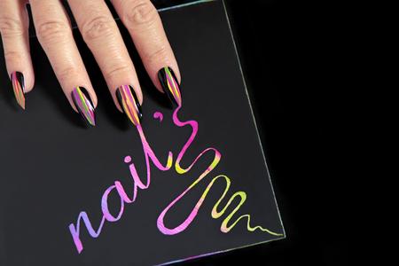 Glamorous manicure.