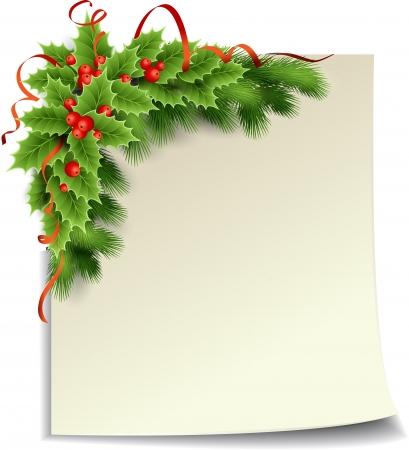 moños navideños: Papel de la Navidad Vectores