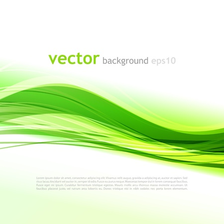 abstract waves: Green abstract background