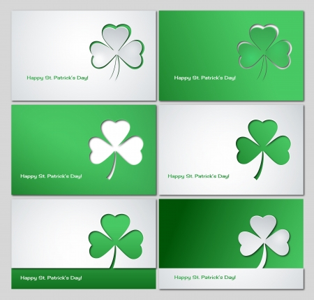four leafed clover: St  Patrick s background Illustration