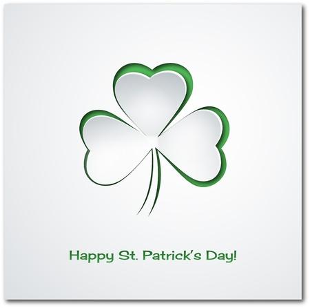 shamrock background: St  Patrick s background Illustration