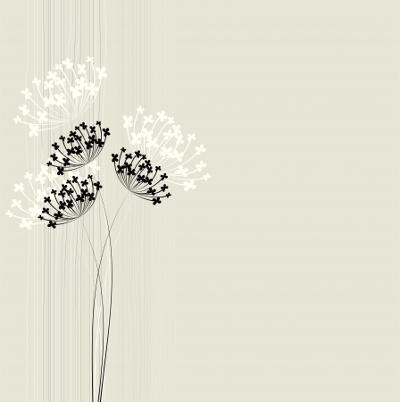 plant delicate: Abstract floral background
