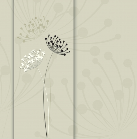 dandelion flower: Abstract floral background