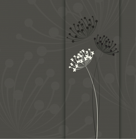 overblown: Abstract floral background