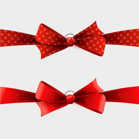 Red bow Stock Vector - 18607825