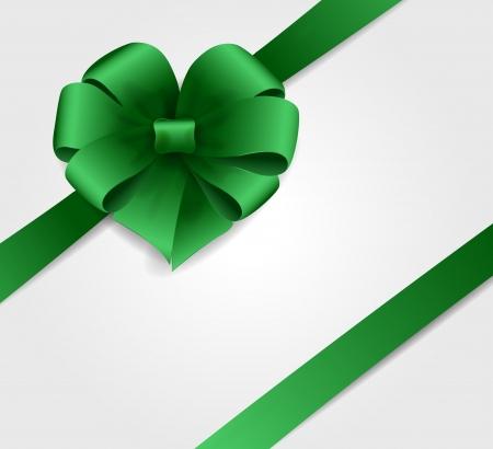 Green bow Stock Vector - 18607312
