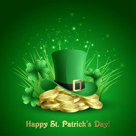 St  Patrick s background Stock Vector - 18607933