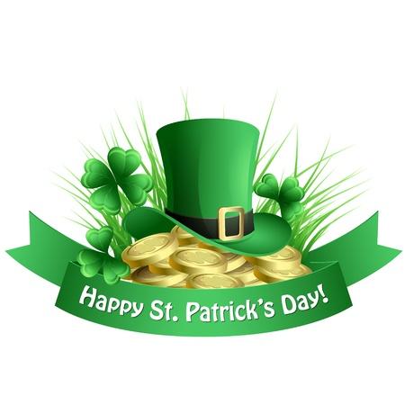 St  Patrick s background Vector