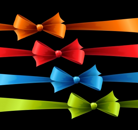 Set of color bow Stock Vector - 18607929