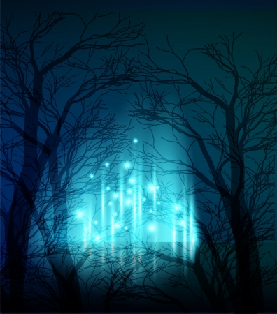 scary forest: Abstract background Illustration