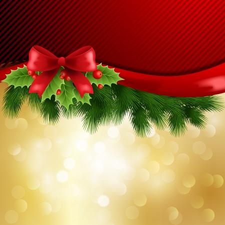 christmas bow: Christmas decoration
