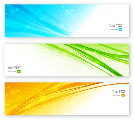 hi tech background: Abstract banner Illustration