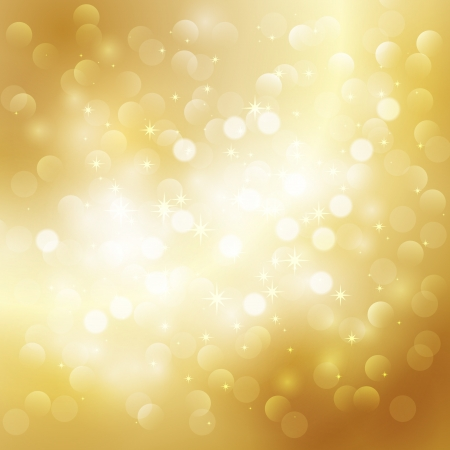 twinkles: Gold holiday background Illustration