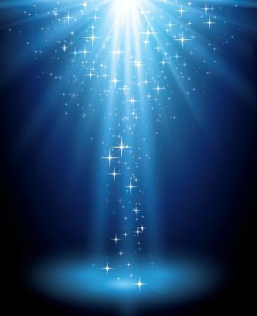 himmelsblå: Magiska ljus bakgrund