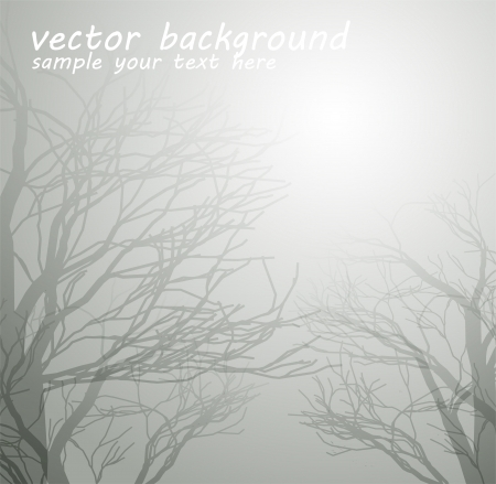 Abstract tree background Vector