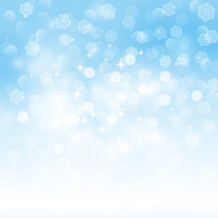 winter background: Snowflakes background