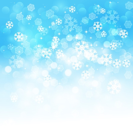 snow background: Snowflakes background