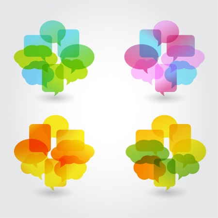 to think: Speech bubbles Illustration