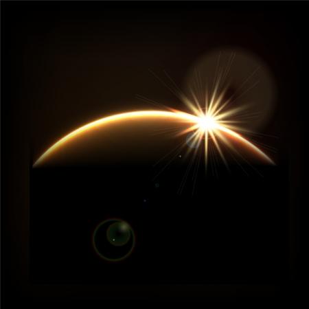 orion: Sunrise in space Illustration