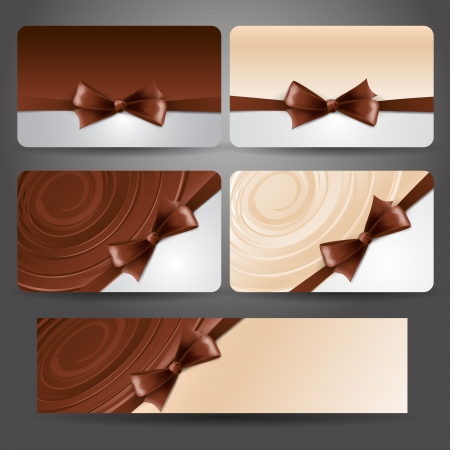 chocolate swirl: Holiday card