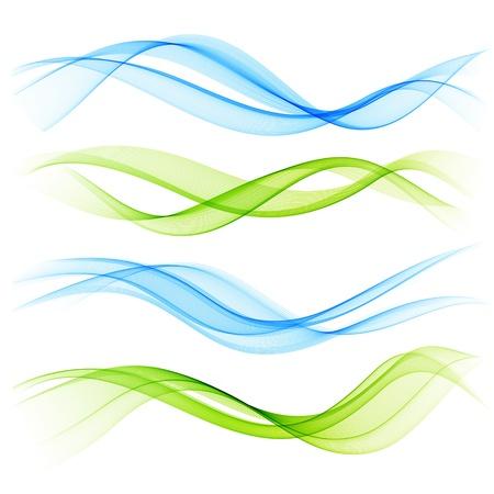 kurve: Set Farbe Welle Illustration