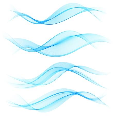 Set van blauwe golf