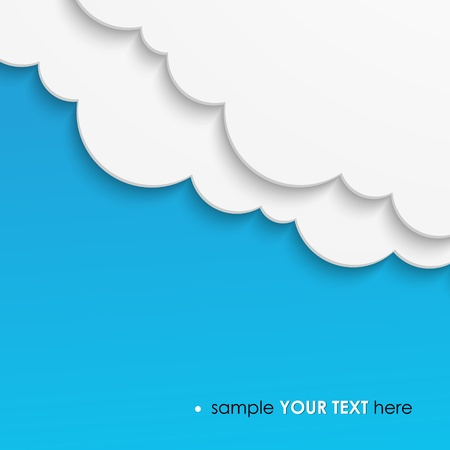 Abstract cloud template background Vector