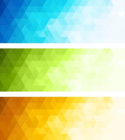 抽象的な色のバナー  イラスト・ベクター素材